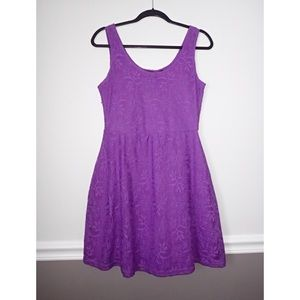 Metaphor Dresses - Metaphor purple lace skater dress